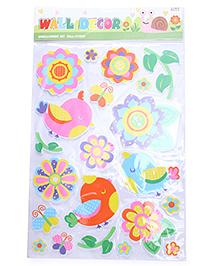 Floral Theme Room Decor Sticker - Multi Colour