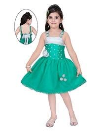 Baby Hug - Pearls And Rosette Singlet Party Dress