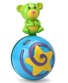Mitashi Skykidz Teddy Roly Poly Musical Ball - Green Blue