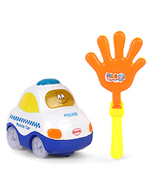 Mitashi Skykidz Clap And Zoom Police Car Toy - White Blue