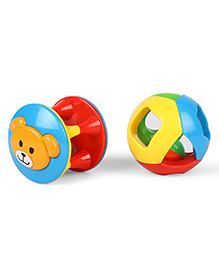 Baby Rattle Set Of 2 - Multi Color