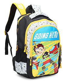 Ben 10 School Bag White Yellow - Height 18 Inches