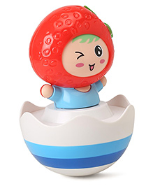 Strawberry Shape Roly Poly Toy - Red