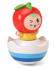 Apple Shape Roly Poly Toy - Red