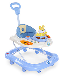 Mee Mee Musical Baby Walker With Parent Push Handle - Sky Blue