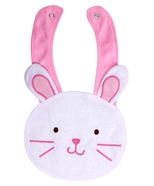 Carter - Rabbit Face Theme Baby Bib