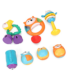 Baby Rattle Set Multicolour - Pack Of 7 - 2054338