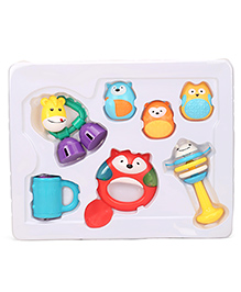 Baby Rattle Set Multicolour - Pack Of 7