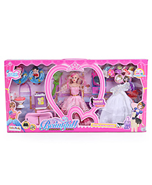 Fashion Doll With Accessories & Small Dolls Pink - 30 Cm