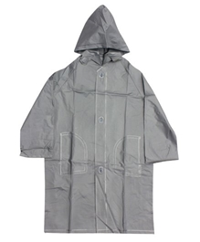 Minister - Plain Silver Raincoat