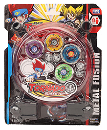 Smiles Creations Metal Fusion 8D Torando Beyblade Spinning Toy  Multi Colour - Pack Of 5