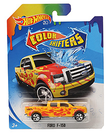 Hot Wheels Colour Shifters Ford F 150 Toy Car - Yellow