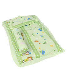 Baby Gadda Set Girl Print - Green