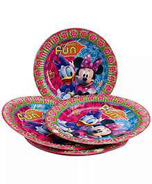 Funcart Minnie & Daisy Themed Paper Plates Pink Pack Of 10 - Diameter 23 Cm