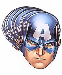 Funcart Captain America Face Masks Pack Of 10 - Blue