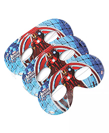 Funcart Iron Man Themed Eye Masks Pack Of 10 - Blue Red