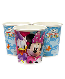 Funcart Mickey Mouse Clubhouse Paper Cups Multicolor Pack Of 10 - 200 Ml