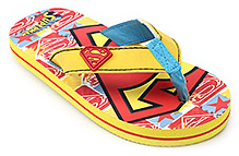 Superman - Colourful Flip Flop With Back Strap