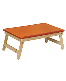 NHR Multipurpose Foldable Wooden Adjustable Laptop Table - Orange