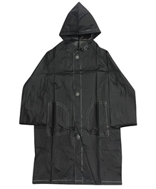 Minister - Plain Black Raincoat