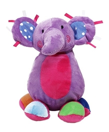 Carters Baby Elephant Soft Toy Purple with Music 2 Years+, Cute and fluffy baby elephant soft toy for your tiny tots