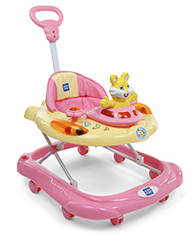 Mee Mee Musical Baby Walker With Parent Push Handle - Pink