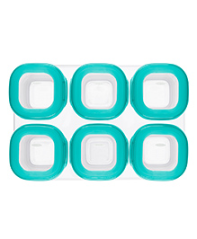 Oxo Tot Baby Blocks Freezer Storage Containers Teal Blue - Pack Of 6