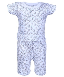 Baby Hug - Short Sleeves Printed Night Suit