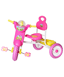 Dash Kids Vega Musical Tricycle With Storage Basket & Lights - Pink