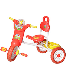 Dash Kids Vega Musical Tricycle With Storage Basket & Lights - Red