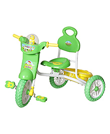 Dash Kids Vega Musical Tricycle With Storage Basket & Lights - Green