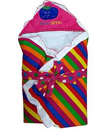 Emob Love Baby Cotton Bath Stripe Dryrobe -  Multicolour