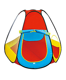 Toys Bhoomi Kids Play Tent With 50 Colourful Balls - Red Blue