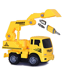 Toys Bhoomi Friction Powered Construction Excavator Truck - Yellow