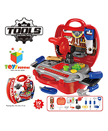 Toys Bhoomi Kids Bring Along Junior Builder Tools Suitcase Red - 19pcs Set