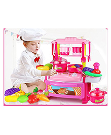 Toys Bhoomi Dream Kitchen Interactive Little Chef Kids Simulation Cookware Play Set With Light & Sound