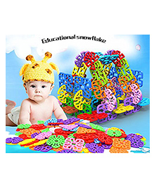 Toys Bhoomi Interlocking Geometry Snowflakes Building Blocks Educational Stem Toys Multi Colour - 230 Pieces