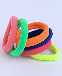 Babyhug Hair Rubber Band Pack Of 6 - Multicolour