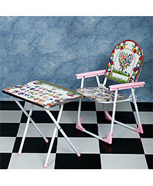 NHR Folding Table & Chair Set - Pink