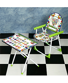 NHR Folding Table & Chair Set - Green