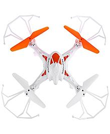 Toyshine 6-Axis Quadcopter Remote Control Drone - White Orange