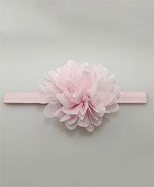 Little Palz Chiffon Hair Band Floral Motif - Light Pink