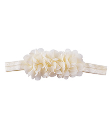 Little Palz Hair Band Floral Applique - Cream
