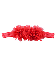 Little Palz Hair Band Floral Applique - Red