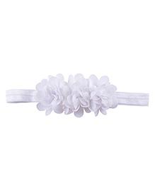 Little Palz Hair Band Floral Applique - White