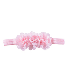 Little Palz Hair Band Floral Applique - Light Pink