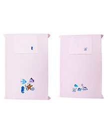 Baby Rap Crib Sheet & Pillow Cover Dino And Sea Party Embroidery Set Of 2 - Pink