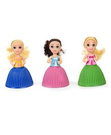 Cupcake Surprise Mini Dolls Pack Of 3 - Blue Pink Green