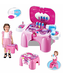 Toys Bhoomi 2 In 1 Beauty Play Set & Chair - Pink