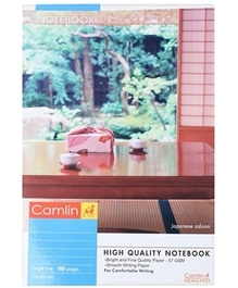 Camlin - 180 Pages Single Line Notebook
